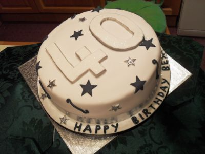 40th Birthday Star Cake